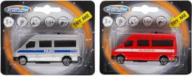 Speedzone Polizei-Van mit Licht und Sound, 1:64, W125 x H100 mm