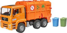 Bruder MAN TGA Müll-LKW orange, ab 3 Jahren, Maße: 51,5 x 17,5 x 24 cm, Kunststoff