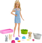 Mattel FXH11 Barbie Play 'N' Wash Puppe (blond)