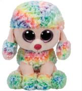TY Beanie Boo's - Pudel Rainbow, Plüsch, ca. 15x25x12 cm