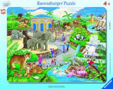 Ravensburger 06661 Rahmenpuzzle Besuch im Zoo 45 Teile