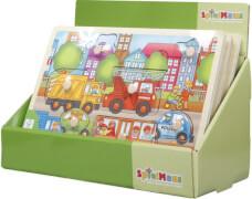 SpielMaus Holz Einlegepuzzle 7-10 teilig, 2-fach sortiert, ca. 30x22,5x0,8 cm, ab 12 Monaten (nicht frei wählbar)