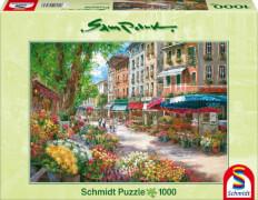Schmidt Puzzle 58561 Sam Park, Paris Blumenmarkt, 1000 Teile, ab 12 Jahre