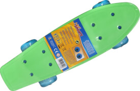 New Sports Mini Skateboard mit LED, 41,5 x 12 cm