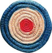 Strohzielscheibe, Durchmesser ca.  65 cm, ca. 5 cm Stärke