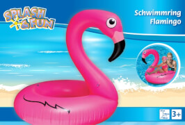 Splash & Fun Schwimmring Flamingo, 106 x 106 x 97 cm