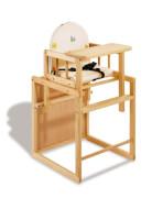 Pinolino 151303 Kombihochstuhl Nele, klar lackiert